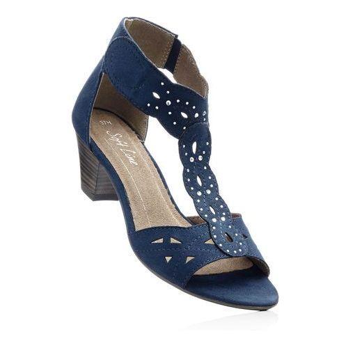 Wygodne sandały bonprix ciemnoniebieski, kolor niebieski