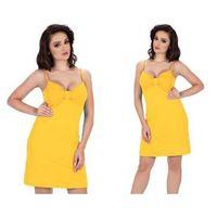 Koszula nocna AFRA: żółty, kolor żółty