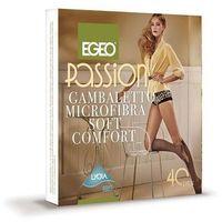 Podkolanówki Egeo Passion Microfibra Soft Comfort 40 den uniwersalny, szary/antracit, Egeo, kolor szary