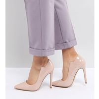 Lost Ink Patent Court Shoes - Beige
