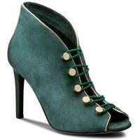 Szpilki CARINII - B3928 I64-J16-000-B16, kolor zielony