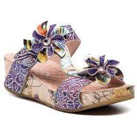 Klapki - bicngoo 059 sl11942-5a violet marki Laura vita