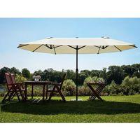 Duży parasol ogrodowy 460cm - szaro-beżowy sibilla marki Beliani