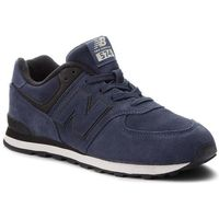 New balance Sneakersy - gc574er granatowy