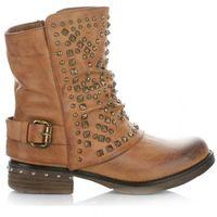 Botki Damskie firmy Crystal Shoes Rude, kolor szary
