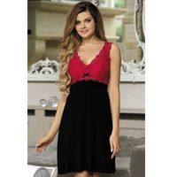 Koszula nocna model larisa red/black, Babella