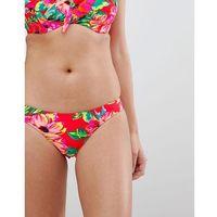 Pour moi bikini bottom in red floral - multi