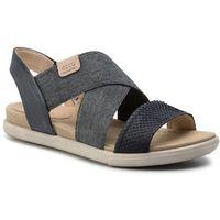 Sandały ECCO - Damara Sandal 24822358658 Black/Black/Powder, kolor niebieski