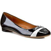 Baleriny GINO ROSSI - Keira DAG389-J32-0606-9911-0 Czarny/Biały 99/00, w 2 rozmiarach