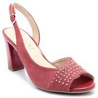 9-28305-20 czerwone - sandałki, skóra, Caprice