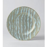 Royal crown derby ruche by bruce oldfield talerz 21,5 cm flow pale blue accent