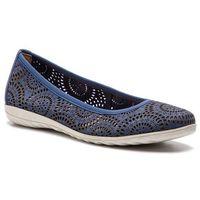 Baleriny CAPRICE - 9-22550-22 Jeans Nubuc 895, kolor niebieski