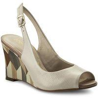 Sandały LORETTA VITALE - Kot Crepe 5554 Beżowy, kolor beżowy