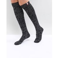 Hunter Original Black Knee High Glitter Boot Socks - Black