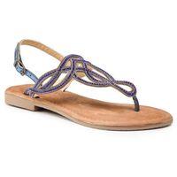 Sandały TAMARIS - 1-28115-22 Blue Metallic 884, kolor niebieski