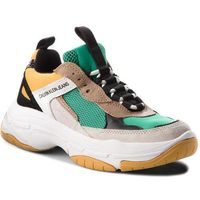 Sneakersy jeans - maya r0803 green/yellow/off whi marki Calvin klein