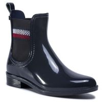 Kalosze TOMMY HILFIGER - Corporate Elastic Rainboot Desert Sky DW5, 36-41