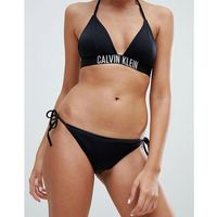 Calvin klein cheeky string side tie bikini bottom - black