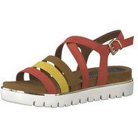 MARCO TOZZI Sandały z rzemykami brązowy / żółty / czerwony / biały