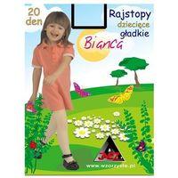 Rajstopy Inez Bianca 20 den 90-110, biały. Inez, 116-122, 128-134, 140-150, 90-110