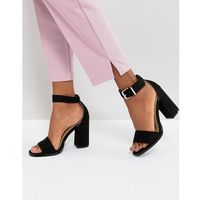 imani black block heeled sandals - black marki Raid