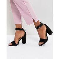 RAID Imani Black Block Heeled Sandals - Black, kolor czarny