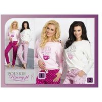 Piżama damska sara: krem/róż marki Taro
