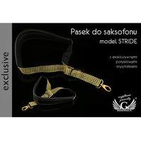 Pasek do saksofonu czarno-złoty - model stride - wersja exclusive - pds24 marki Grawernia.pl - grawerowanie i wycinanie laserem