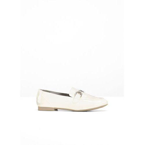Buty wsuwane Marco Tozzi bonprix biały lakierowany, w 2 rozmiarach