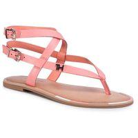 Tommy hilfiger Sandały - iconic flat strappy sandal fw0fw04873 island coral sn7