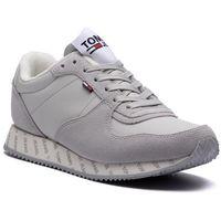Sneakersy TOMMY JEANS - Casual Sneaker EN0EN00394 Dawn Blue 439, kolor szary