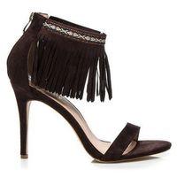 Brązowe sandały boho marki Buty wilady