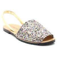 550 multikolor - hiszpańskie skórzane sandały minorki - multikolor, Mariettas
