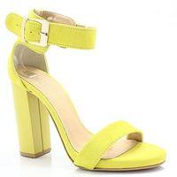 2661 cytrynowe - sandały na słupku - żółty marki Tymoteo