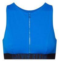 Calvin Klein Swimwear Góra bikini 'OPEN BACK CROP TOP' ciemny niebieski (8719115766931)