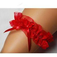 Damska podwiązka czerwona roxy silikon, Enjoy