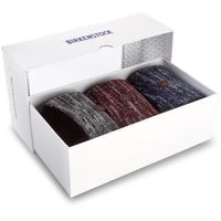 Birkenstock Zestaw 3 par wysokich skarpet damskich - gift box xmas 1005919 black/red/blue