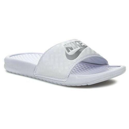 Klapki NIKE - Benassi Jdi 343881 102 White/Metallic Silver, kolor biały