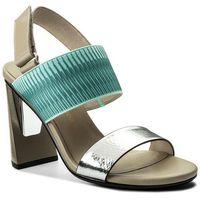 Sandały UNITED NUDE - Zink Slingback Hi 10300440108 Silver/Mint/Ivory