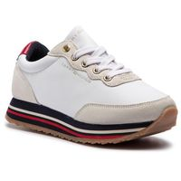 Sneakersy TOMMY HILFIGER - Tommy Retro Runner FW0FW03690 White 100, kolor biały