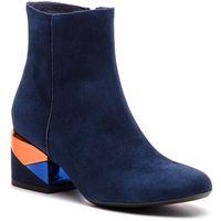 Botki MACCIONI - 8103.129.30303 Niebieski, kolor niebieski