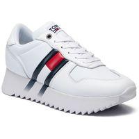 Sneakersy TOMMY JEANS - High Cleated Corporate Sneaker EN0EN00695 White YBS