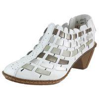 Półbuty Rieker 46778-81 - Białe, kolor biały
