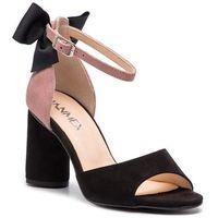Sandały ANN MEX - 0178 01W 02W Czarny/Róż, kolor różowy