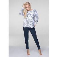 Piżama lns 597 b19 dł/r s-xl biały-jeans - biały-jeans, Key