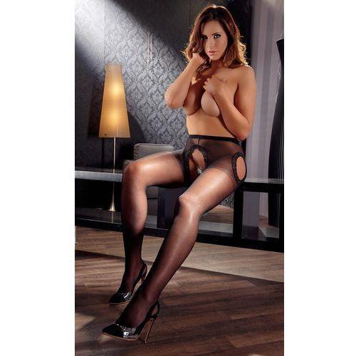 Cottelli collection | stockings Rajstopy bez krocza z koronką