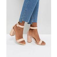 genna patent block heeled sandals - beige marki Raid