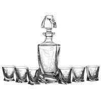 Karafka i 6 kieliszków do wódki grawer myśliwski (11085)
