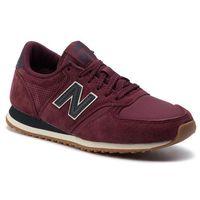 Sneakersy NEW BALANCE - U420HJ Bordowy, w 24 rozmiarach