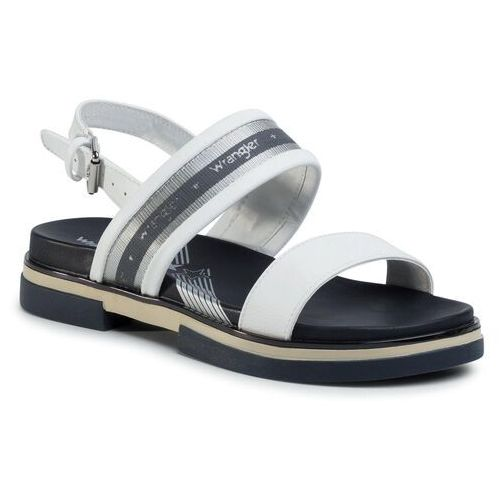 Sandały - rhapsody harvey wl01550a white 051 marki Wrangler